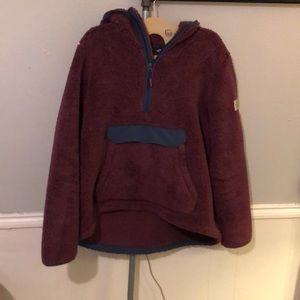 North Face Pullover Fuzzy Jacket